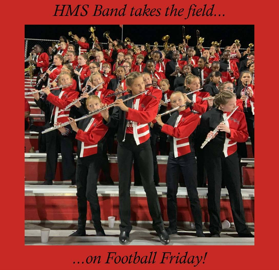 HMS Band takes the field