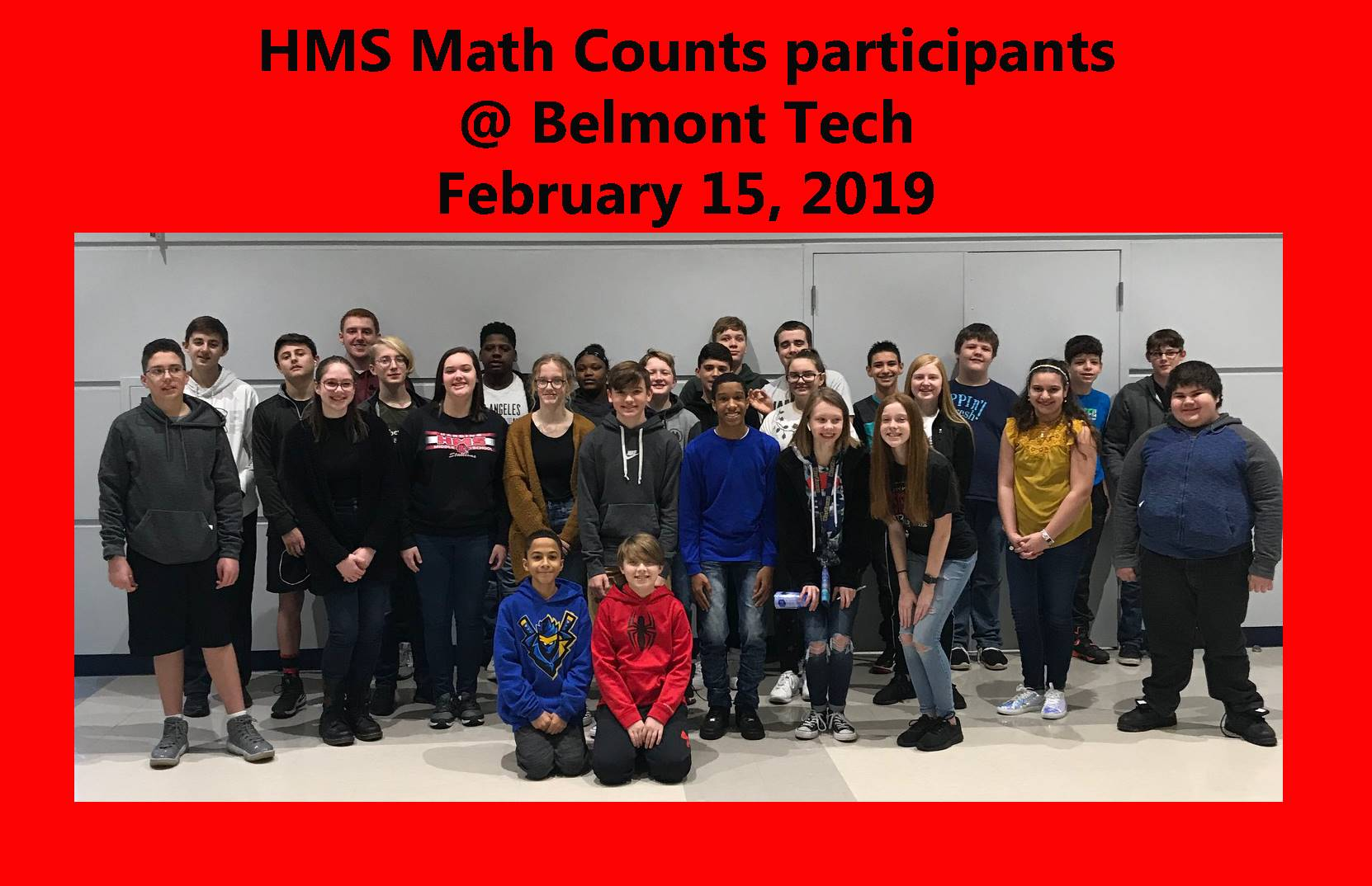 HMS Math Counts participants