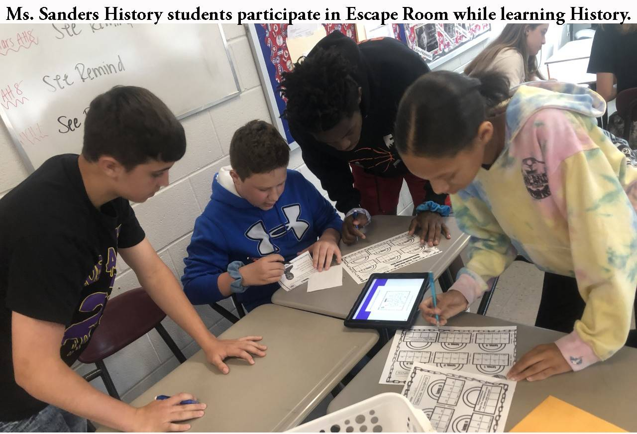 History students play Escape Room