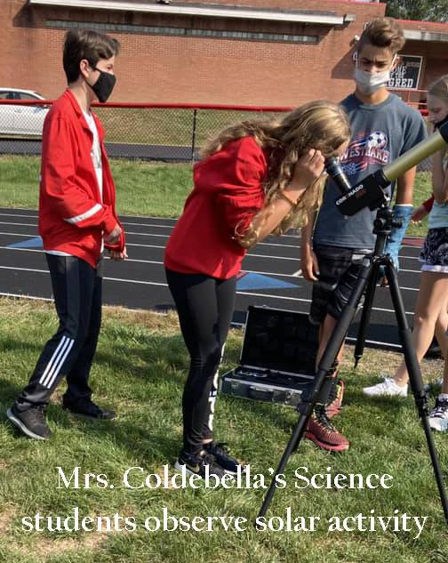 Coldebella's Science class uses telescope