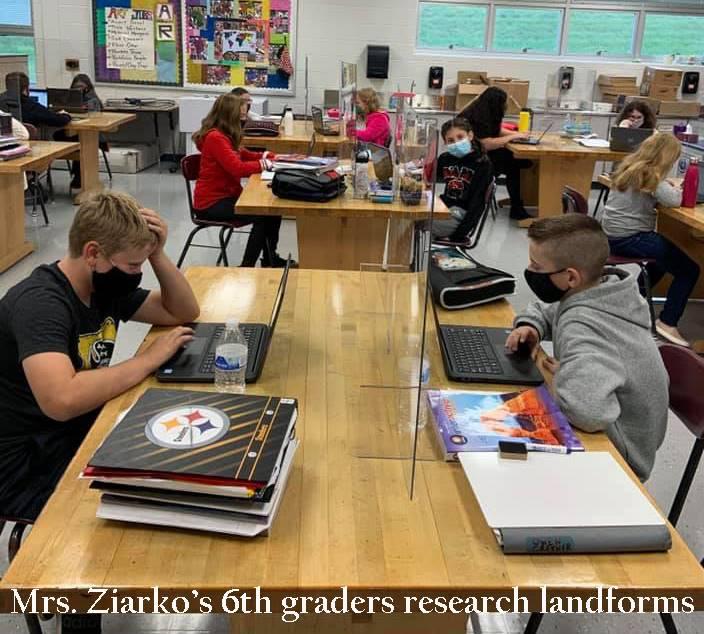 Ziarko's class researches landforms